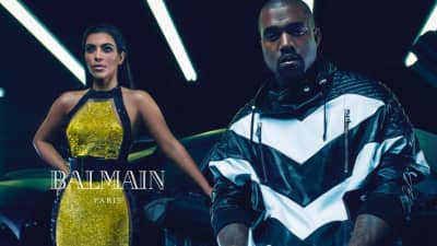 Kim Kanye Balmain