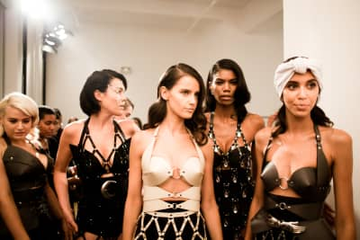 Bondage and Armor at NYFW Zana Bayne Chromat