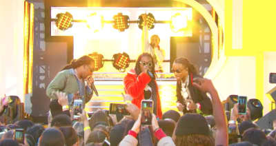 Watch Migos and Ed Sheeran perform for TRL's debut reboot episode