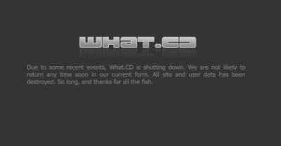 Music Torrent Site What.CD Has Been Shut Down By French Authorities