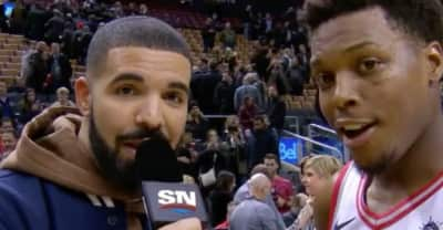 Drake tried his hand at sports reporting for the Toronto Raptors