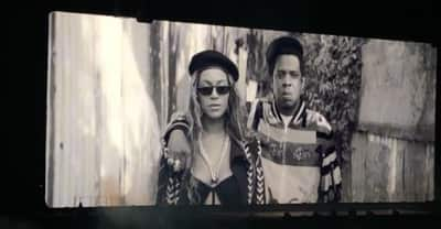 Beyoncé and Jay-Z make entrance in an elevator during On The Run II tour