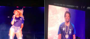 Beyoncé and JAY-Z wore France's jerseys during their Paris concert