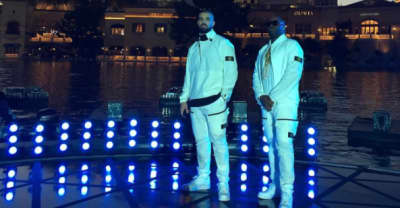 """Watch Drake Perform """"Gyalchester"""" In The Bellagio Fountain At The 2017 BBMAs"""
