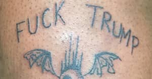 "Mykki Blanco Got A ""Fuck Trump"" Tattoo During The Inauguration"