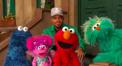 Chance the Rapper made a visit to Sesame Street