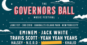 Governors Ball 2018: Eminem, Jack White, Travis Scott, and Yeah Yeah Yeahs to headline