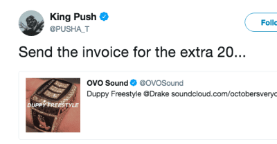 "Here are the best tweets about Drake's ""Duppy Freestyle"""