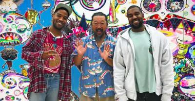 Kanye West tweeted Takashi Murakami designs for album with Kid Cudi