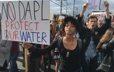 Willow And Jaden Smith Join Protest Against Dakota Access Pipeline