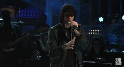 Watch Eminem perform a medley of hits on Saturday Night Live
