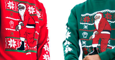 Nas Is Selling Kneeling Santa Christmas Sweaters For Charity