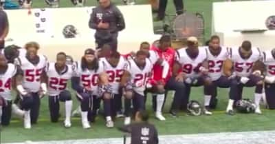 The Houston Texans protested during the national anthem in response to team owner's comments