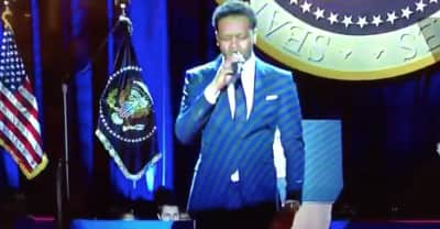 Watch BJ The Chicago Kid Sing The National Anthem At President Obama's Farewell Address