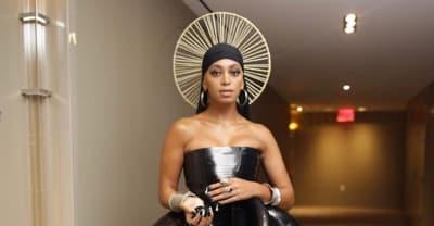 Solange rocks a halo behind her du-rag at the Met Gala