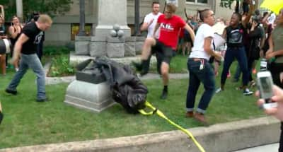 Watch Protestors Tear Down A Confederate Monument In North Carolina