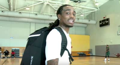 Watch Quavo Sink Buckets In A Pick Up Basketball Game