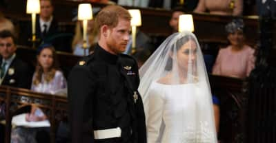 Meghan Markle wears a dress by Givenchy during Royal wedding