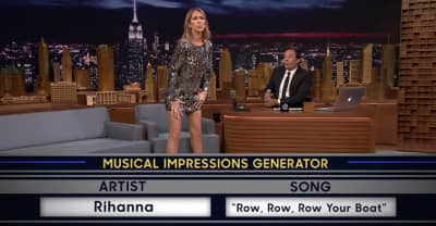 Watch Céline Dion Impersonate Rihanna On The Tonight Show