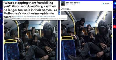 Daily Mail Australia Used A Picture Of Section Boyz To Illustrate Their Story On A Gang In Melbourne