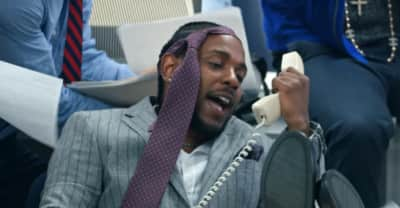 """Jay Rock, Kendrick Lamar, and Future do Wolf of Wall Street in the """"King's Dead"""" video"""
