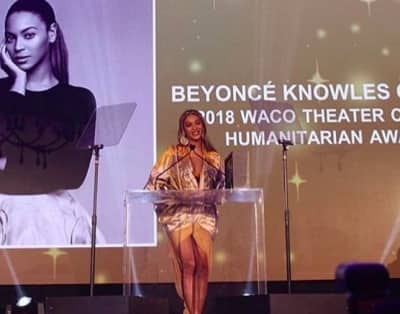 Watch Beyoncé accept an award for her humanitarianism