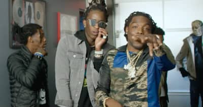 """Watch Young Thug, Quavo, Offset And Young Scooter Hang Backstage For The """"Guwop"""" Video"""