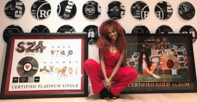 SZA celebrates as Ctrl is certified gold