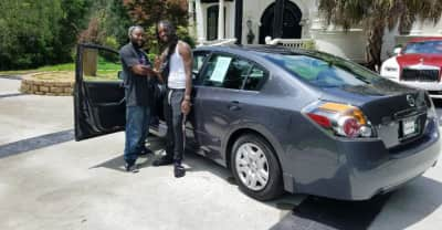 Offset bought a new vehicle for the man who helped him after a car crash
