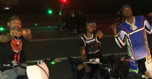 Meek Mill arrived on stage at Summer Jam on a dirt bike