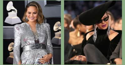 Chrissy Teigen kneeled to Beyoncé at the Grammys