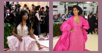 Tracee Ellis Ross got stuck in SZA's halo at the Met Gala