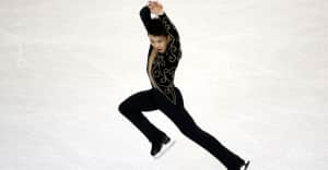 Figure skating to music with lyrics is allowed now, so Jimmy Ma skated to Lil Jon