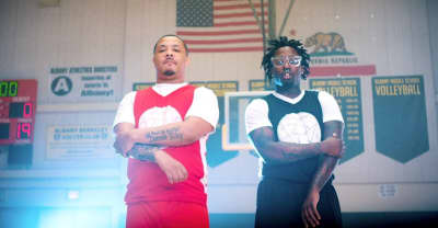 "ALLBLACK and Offset Jim run a play in their ""Penny & Shaq"" video"