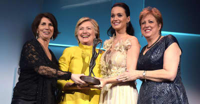 Hillary Clinton Made A Surprise Appearance Alongside Katy Perry In New York Last Night
