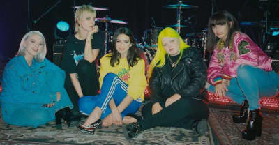 "Watch Dua Lipa perform ""IDGAF"" with Charli XCX, Zara Larsson, MØ, and Alma"