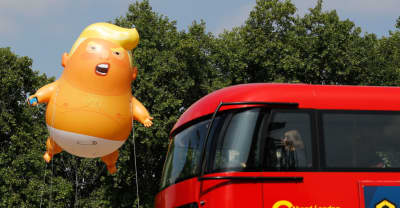 Trump is in London and British people are protesting