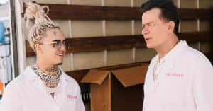 Lil Pump previews a new music video with Charlie Sheen