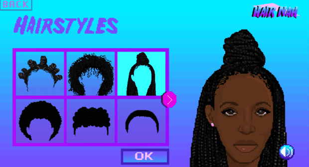 Momo Pixel made a video game to remind you that you can't touch her hair. Here's why.