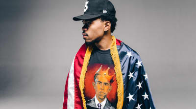"Chance The Rapper Models The ""Thank You Obama"" Collection"