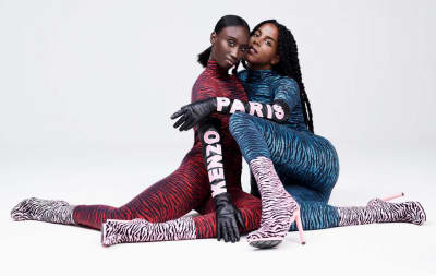 Kenzo For H&M's First Look Has Pink Shearling And Electric Zebra Bodysuits