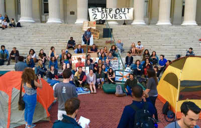 Students Organize Sleep-Out To Fight For Fossil Fuel Divestment