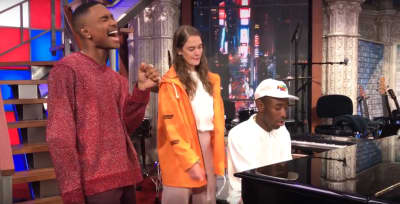 "Watch Tyler, The Creator Play ""911"" On The Piano With Steve Lacy And Anna Of The North"