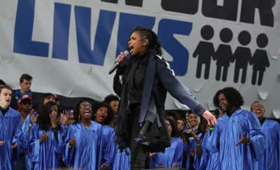 Jennifer Hudson, Ariana Grande, and more perform at the March For Our Lives