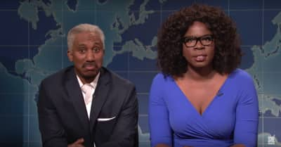Watch Oprah and Stedman discuss running for president in this SNL sketch