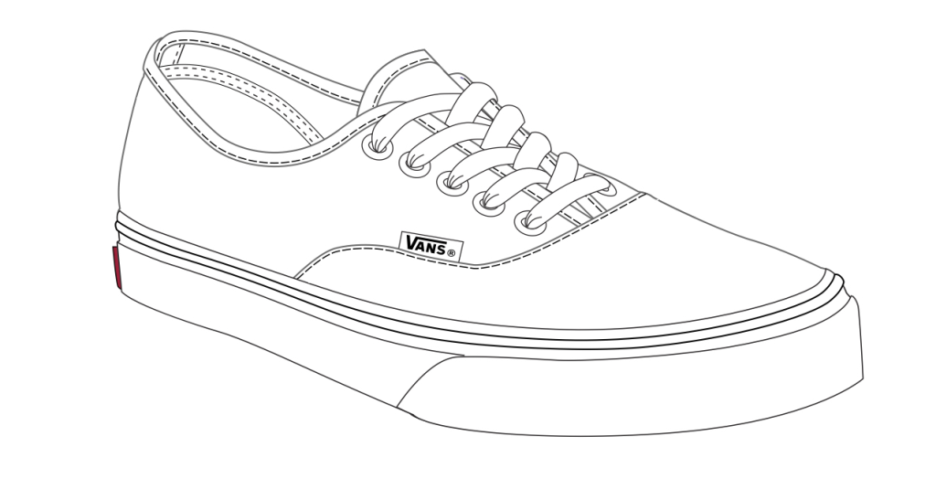 Slip On Shoe Drawing