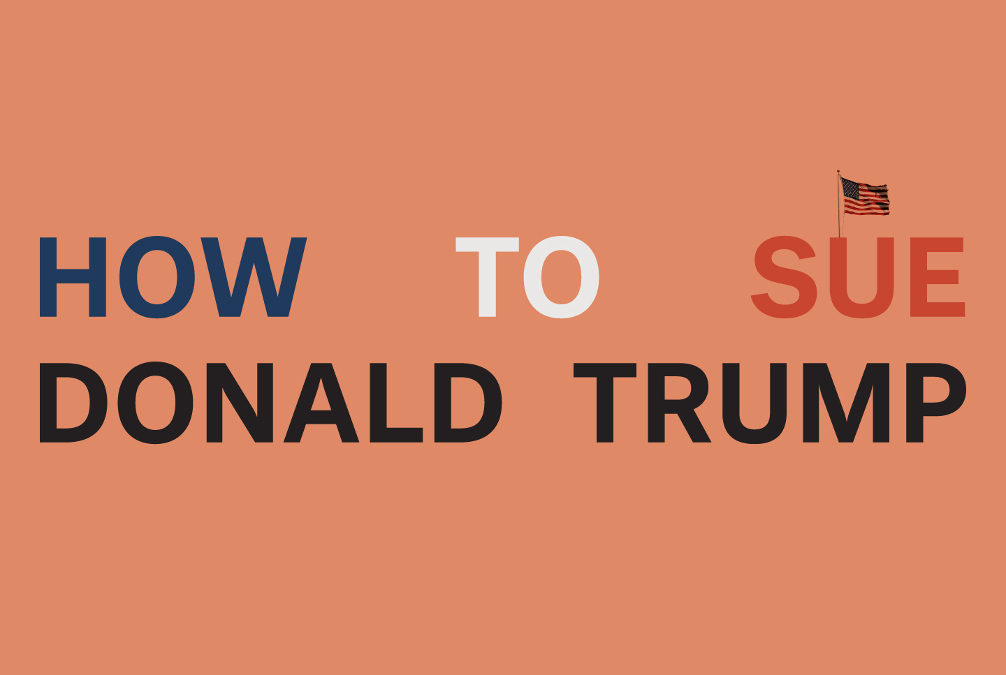 How To Sue Donald Trump