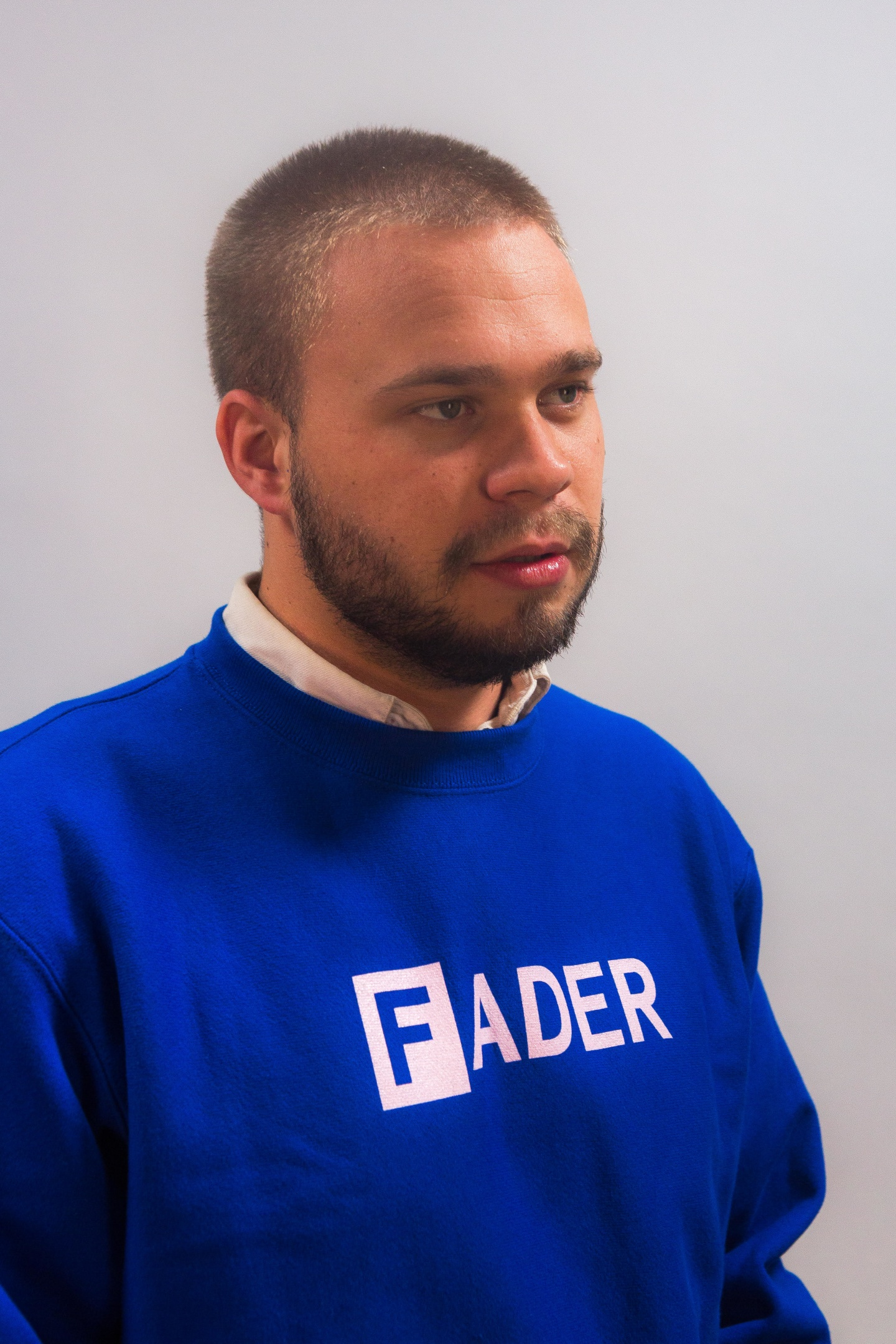 Cop a FADER x Champion crew neck sweatshirt