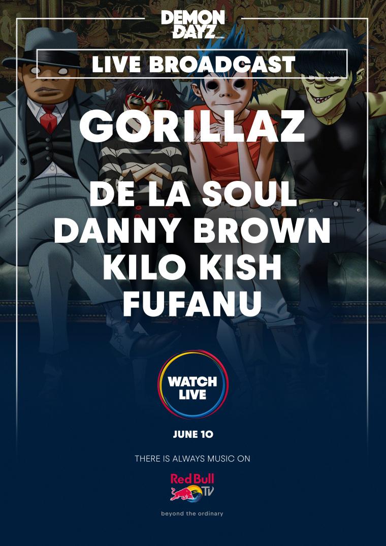 Stream Gorillaz' Demon Daze Festival