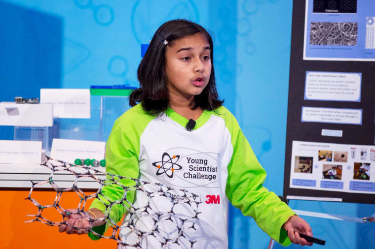This 11-year-old girl created a device to detect lead levels in water